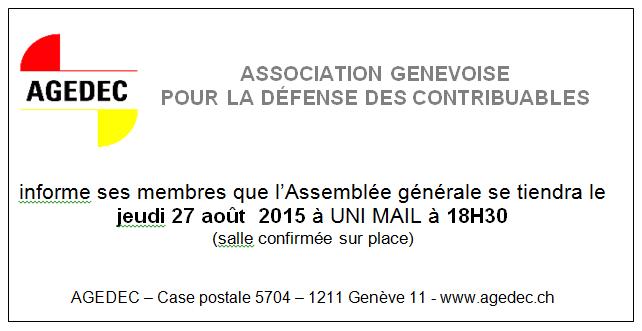 134 Assamblée générale  27 août 2015